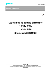 Phaesun Solar charge controller 12 V, 24 V 6 A 18310 Data Sheet