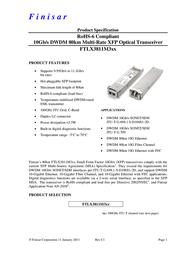 Finisar FTLX3811M325 User Manual