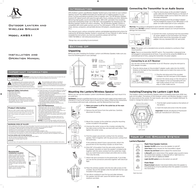 Acoustic Research AW851 Leaflet