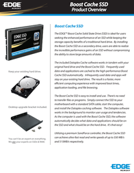 Edge Boost Cache SSD PE234256 Leaflet