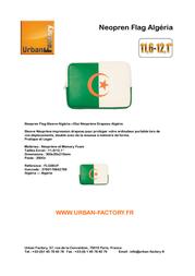 Urban Factory Neopren Flag Sleeve Algéria FLG06UF Leaflet