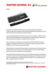 Raptor Gaming K2 507 User Manual