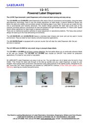 Labelmate LD-100-RS Leaflet