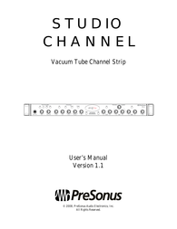 PreSonus Studio Channel Owner's Manual