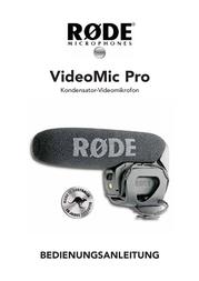 Rode Microphones RODE VIDEO MIC PRO MIKROFON 400.700.020 Data Sheet