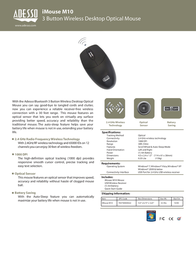 Adesso iMouse M10 IMOUSE M10 Leaflet