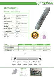 Verde LED VER-ET8-F1200-18-855 Leaflet