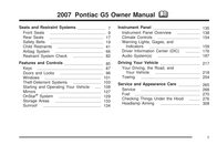 Pontiac G5 User Manual