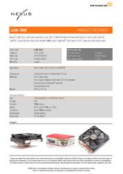 Nexus LOW-7000   Socket LGA1366/775, 7CM Low Profile Cooler LOW-7000 Leaflet