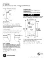 Monogram ZIFS360NXRH Specification Sheet