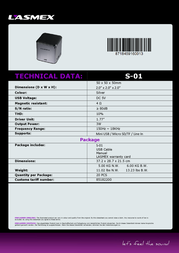 Lasmex S-01 S-01 SILVER Data Sheet