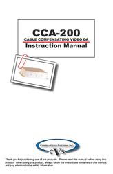 CVS DA CCA-200 User Manual