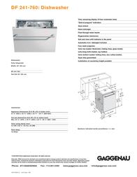 Gaggenau DF 241-760 Leaflet