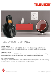 Telefunken TB 201 Peps TB201OGE Leaflet