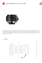 Leica Elmarit-M 28 mm f/2.8 11606 User Manual
