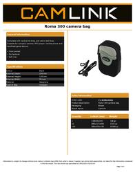 CamLink CL-ROMA300G Leaflet