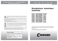Chauvin Arnoux P01157050 Simple Data Logger P01157050 User Manual