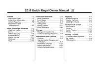 Buick REGAL 2011 User Manual