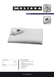 Melissa Electric Heating Pad 631-015 Leaflet