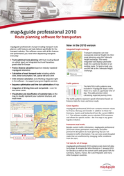 Map&Guide Professional 2010, North America City D0016-0101-1300 User Manual
