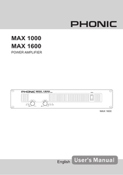 Phonic max 1000 User Guide
