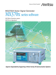Anritsu MG3700A User Manual