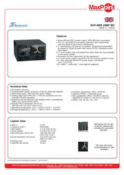 Nanopoint S12-600 power supply S12-600 Leaflet