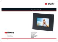 Braun Photo Technik Digiframe 7 Black Acrylic 21146 Leaflet
