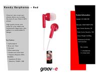 Groov-e GV-EB3-RD GVEB3RD Leaflet