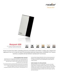 Rocstor Rocport ID 5 320 GB B345J5-SL Leaflet