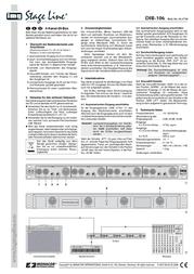 IMG Stage Line DIB-106 DI-BOX 4FOLD 24.1750 Data Sheet