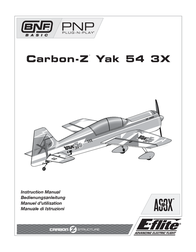 E-flite Carbon-Z Yak 54 3X EFL10575 Data Sheet