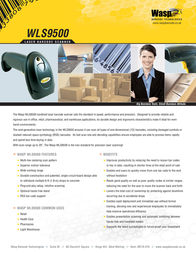 Wasp WLS9500 Barcode Scanner with PS2 cable 633808502980 Leaflet