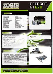 Zogis GeForce GT 620 1GB ZOGT620-1GD3H Leaflet
