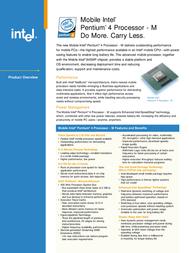Intel Mobile Intel Pentium 4 Processor-M 2.2GHz 512KB FSB400 BOX BXM80532GC2200D Leaflet