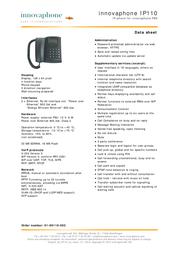 Innovaphone IP110 01-00110-002 Leaflet