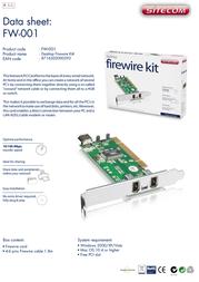 Sitecom Desktop Firewire Kit FW-001 Leaflet