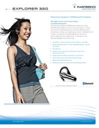 Plantronics Explorer 320 Bluetooth® Headset EXPLORER 320 Leaflet