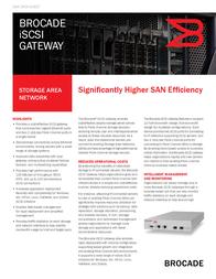 Brocade iSCSI Gateway BR-0100-0001-A Data Sheet