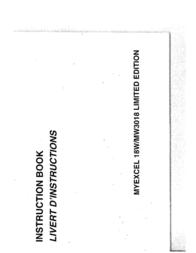 Janome MYEXCEL 18W-MW3018 User Manual