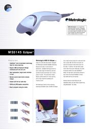 Metrologic MS5145 Eclipse 53-53235G-N-3 Leaflet