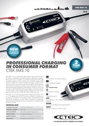 Ctek MXS 10.0 56-822 Leaflet