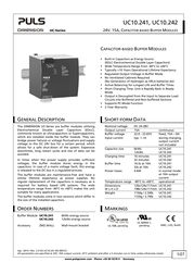 Puls UC10.241 DIN-Rail UPS Specification Guide