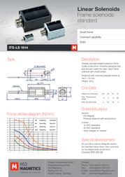 Intertec ITS-LS-1614-D-24VDC, electromagnet, M3 ITS-LS-1614-D-24VDC Data Sheet
