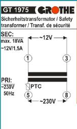 Grothe Bell transformer N/A 14101 Data Sheet