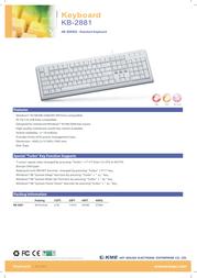 KME KB-2881, PS/2 & USB KLA021316 Leaflet