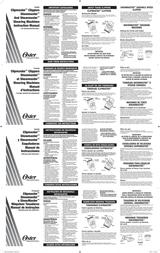 Oster ShowMaster Leaflet