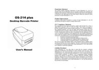 Argox OS-214 plus User Manual
