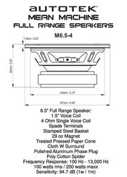 Autotek M6.5-4 Leaflet