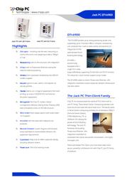 Chip PC Jack PC EFI-6900 EFI-6900 User Manual